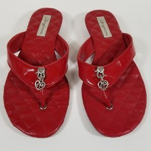 b94a59228 Brighton Charm Red Sandals sz 7.5 Leather. Brighton Charm Red Sandals sz  7.5 Leather.  45  88. Tory Burch Flip Flops